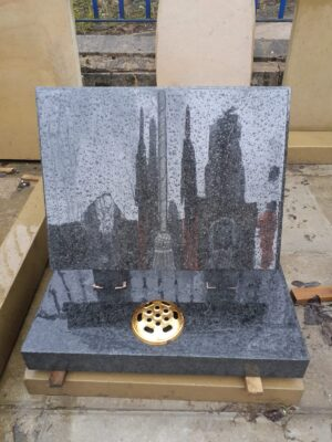 Black Granite Book Memorial