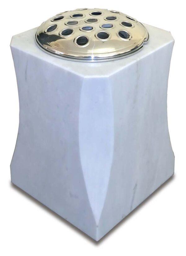 Elegantly Shaped Marble Vase Memorial