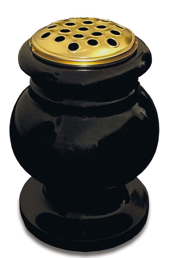 Black Granite Vase Memorial